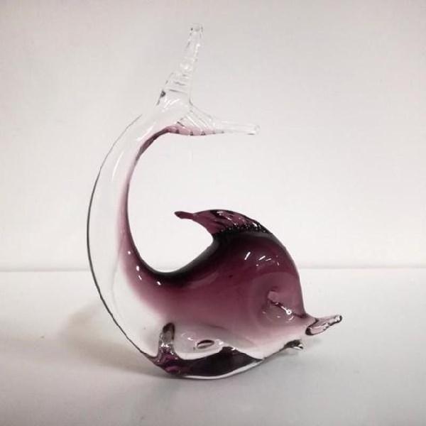 Statuina pesce vetro violetto