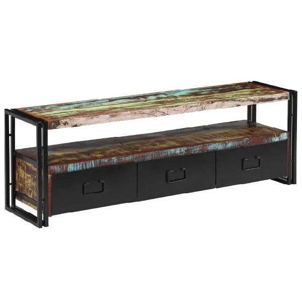 Vidaxl mobile porta tv in legno massello di recupero