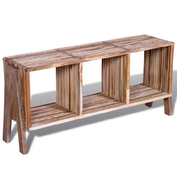 Vidaxl mobiletto tv con 3 mensole impilabile in legno