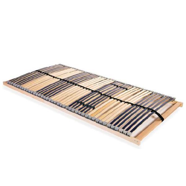 Vidaxl rete a doghe 7 zone con 42 doghe in legno fsc 120x200