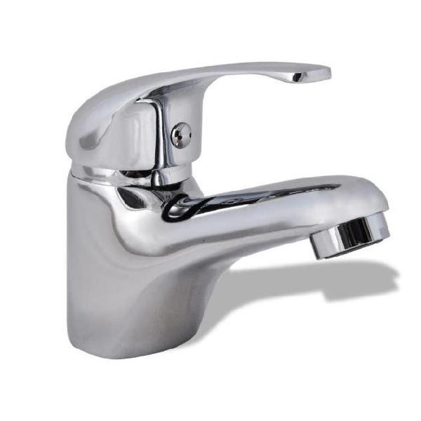 Vidaxl rubinetto miscelatore da lavandino cromo