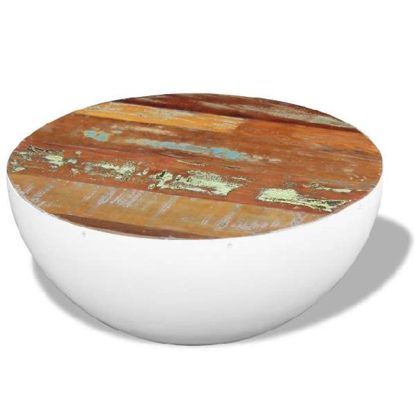 Vidaxl tavolino da caffè forma di coppa legno di recupero