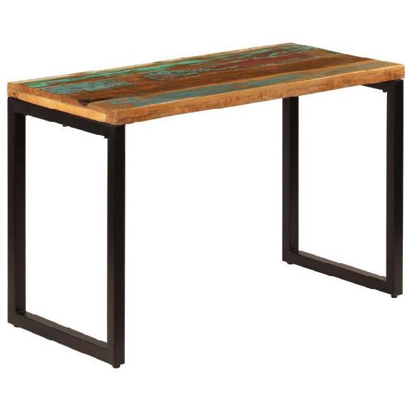 Vidaxl tavolo da pranzo 115x55x76 cm legno massello