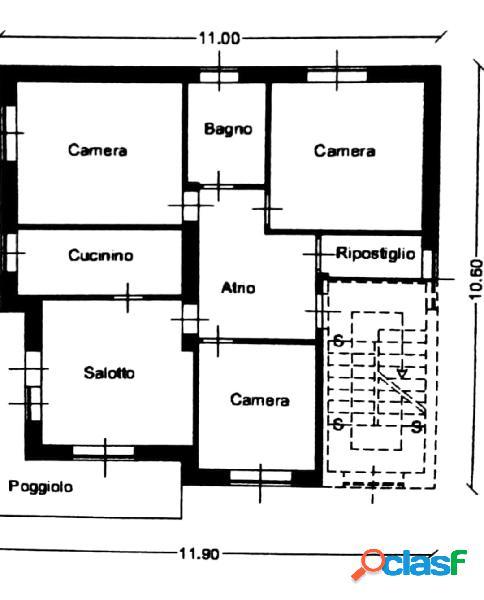 Appartamento 3 camere ristrutturato con giardino