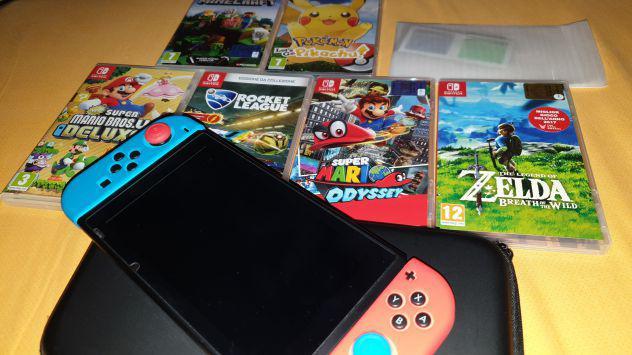 Nintendo switch pari al nuovo!! inclusi 7 giochi