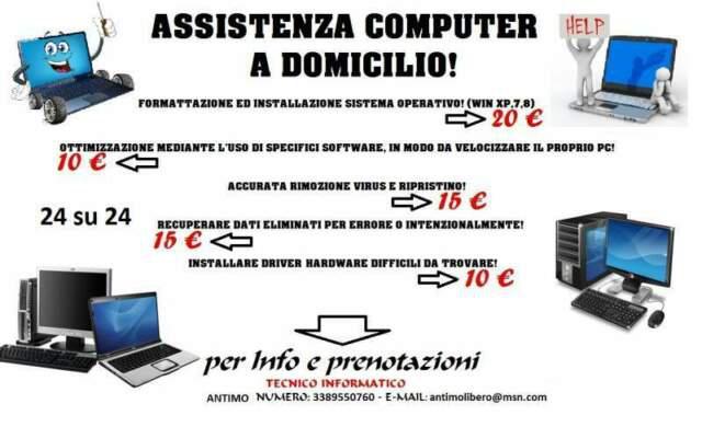 Servizio a domicilio assistenza informatica