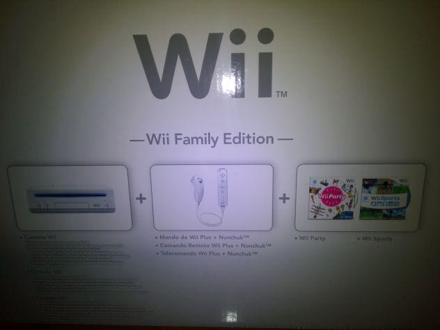 Wii family edition+balance wii fit plus+accessori e giochi