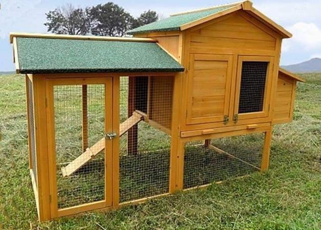 Pollaio con recinto per galline ovaiole casetta gabbia legno