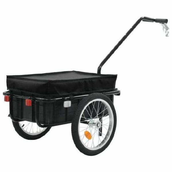 Vidaxl rimorchio bici per trasporto merci 155x61x83 cm