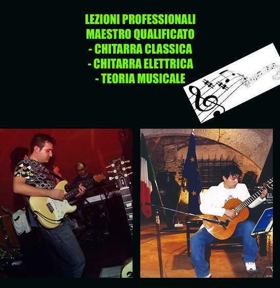 Maestro impartisce lezioni di chitarra elettrica e classica