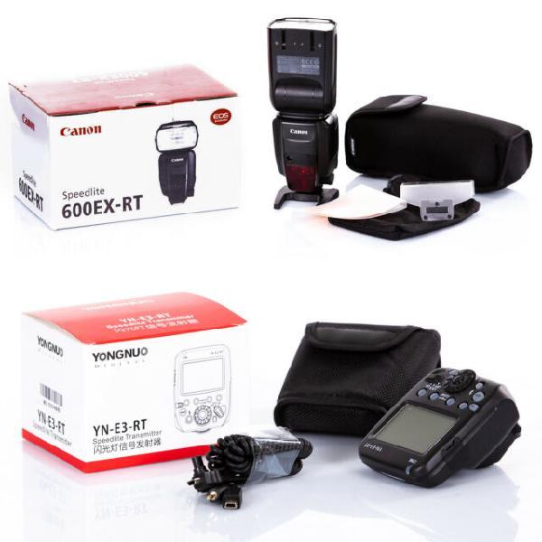 Canon speedlite 600 ex rt + trigger yongnuo yn-e3-rt