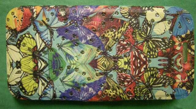 Custodia pelle samsung galaxy s6 fantasia farfalle