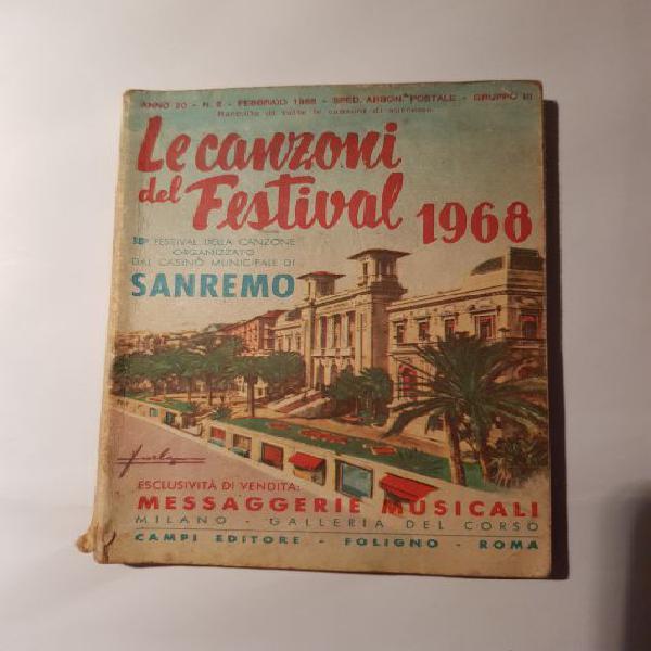 Le canzoni del festival di sanremo 1968