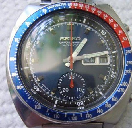 Orologio automatico seiko 6139 6002 crono day date pepsi