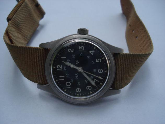 Orologio militare vintage hamilton h3 carica manuale