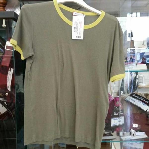 T shirt donna uf verdina bordi gialli