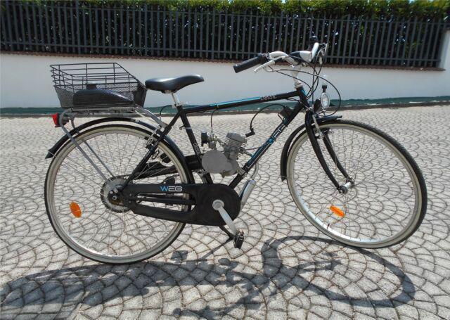 Bicicletta uomo da passeggio con motore a benzina 80cc 2t