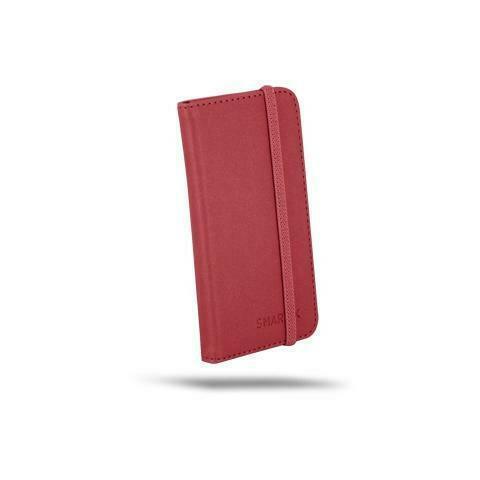 """Custodia per smartphone in pelle 4.5 / 5 """"- colore rosso"""