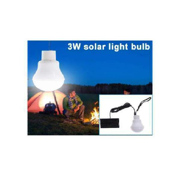Luce torcia led solare portatile ricaricabile camp 3 watt
