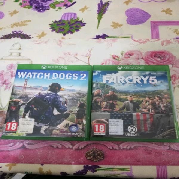 Xbox one far cry 5 / watch dogs 2