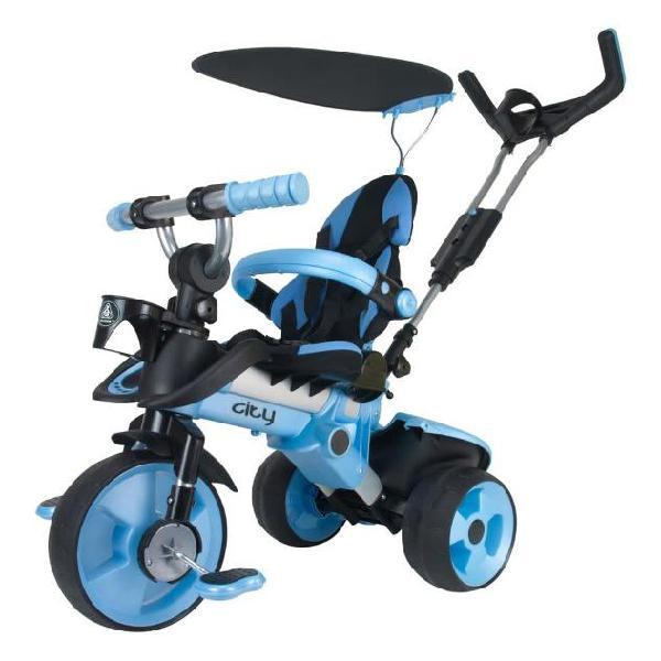 Injusa 3261 triciclo cavalcabile city blu
