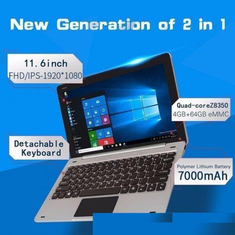 Jumper ezpad 6 2 in 1 tablet pc - windows 10 x64 originale +