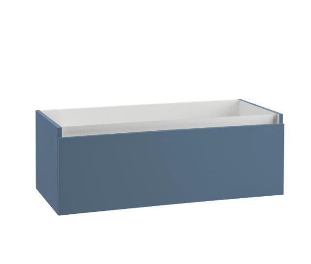 Mobile bagno sospeso 100 cm in legno tft ibiza blu opaco