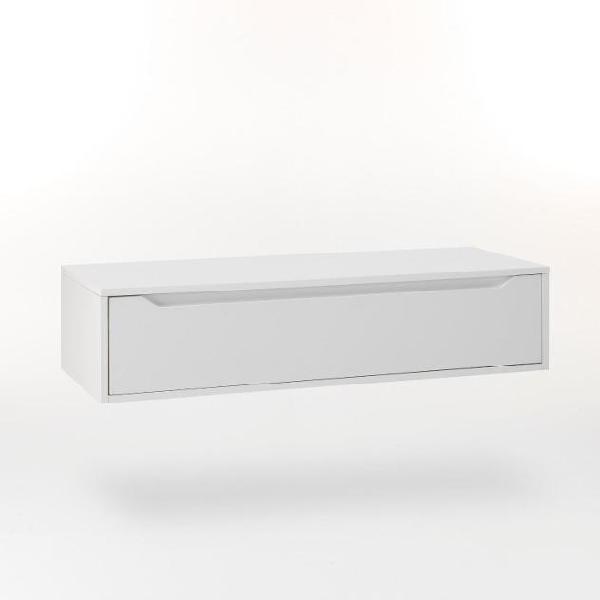 Mobile bagno sospeso 120 cm in legno tft belsk bianco opaco