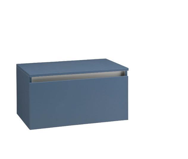 Mobile bagno sospeso 70 cm con top in legno tft ibiza blu