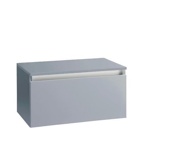 Mobile bagno sospeso 70 cm con top in legno tft ibiza grigio