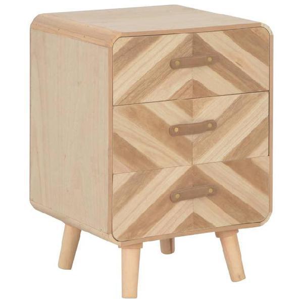 Vidaxl comodino con 3 cassetti 40x35x56,5 cm in legno