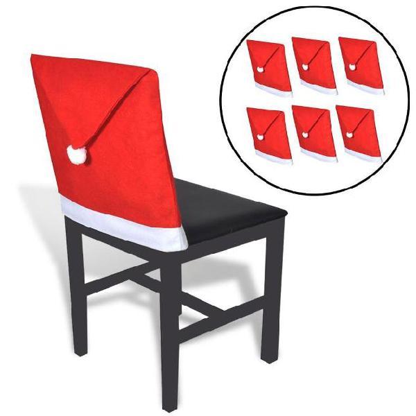 Vidaxl copri schienale da sedia set 6 pz cappello babbo