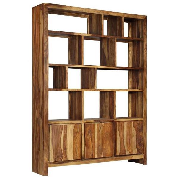 Vidaxl libreria in legno massello di sheesham 150x35x200 cm