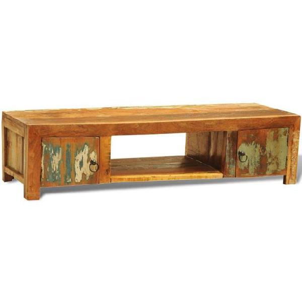 Vidaxl mobiletto tv con 2 ante in legno di recupero vintage
