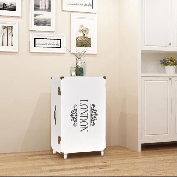 Vidaxl mobiletto a baule 40x30,5x81 cm bianco