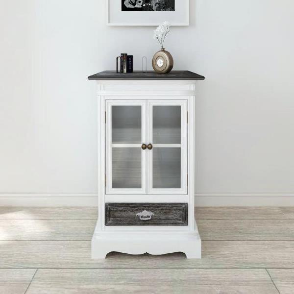Vidaxl mobiletto con 2 porte e 1 cassetto in legno bianco