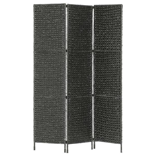 Vidaxl paravento a 3 pannelli nero 116x160 cm in giacinto