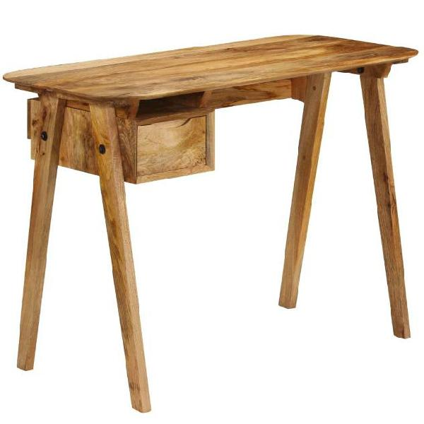 Vidaxl scrivania in legno massello di mango 110x50x76 cm