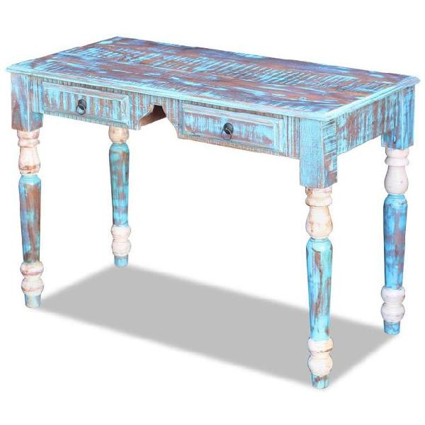 Vidaxl scrivania in legno massello di recupero