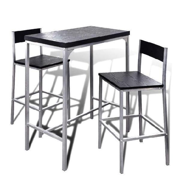 Vidaxl set banco da bar e colazione alto