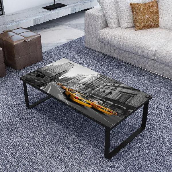 Vidaxl tavolino da caffè con ripiano in vetro rettangolare