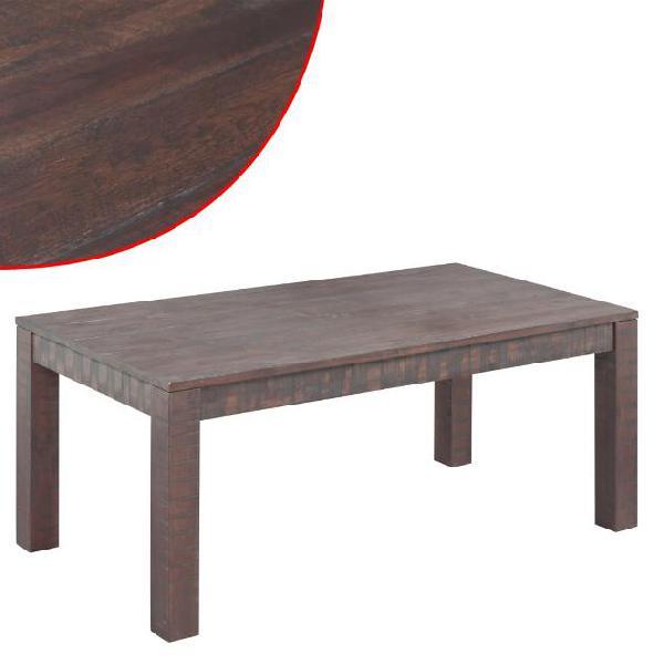 Vidaxl tavolino in legno massello di acacia effetto fumo