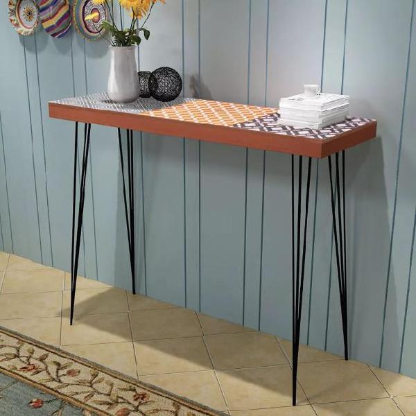 Vidaxl tavolo console 90x30x71,5 cm marrone