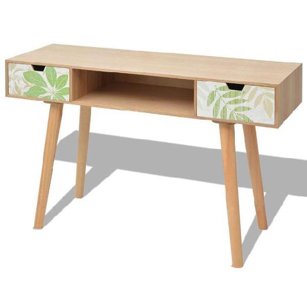 Vidaxl tavolo consolle in mdf 120x40x78 cm marrone