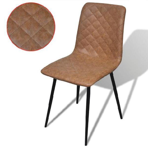 Vidaxl vidax sedie per sala da pranzo 2 pezzi in pelle