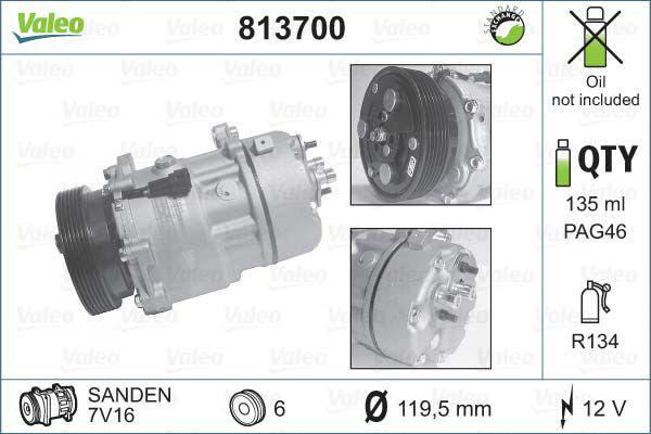 Compressore climatizzatore vw golf polo passat 1j0820803