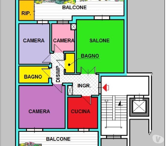 Appartamento 4 vani con posto auto.- cod.a1077