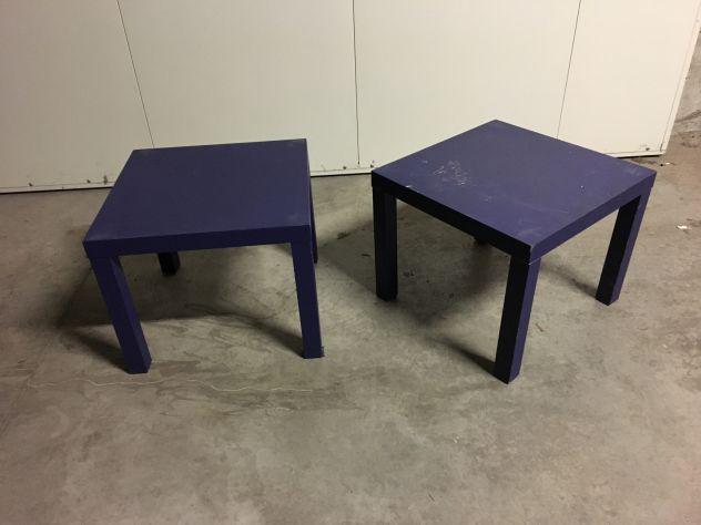 Coppia tavolini blu