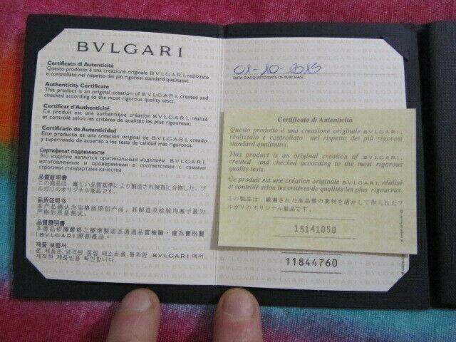 Garanzia bulgari originale.