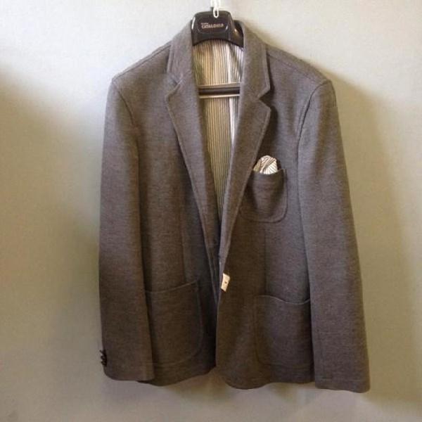 ZARA MAN ABITO completo uomo grigio a righe usato giacca